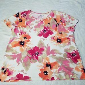 Croft & Barrow Watercolor Floral Top